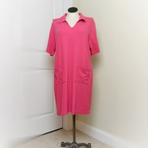 Pink Casual Plus Size Dress
